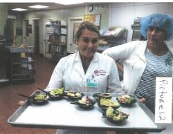 Image of Kylie Johnson, 2012 Class Intern during Food Service Management Rotations.